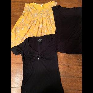 Three women's blouses extra small